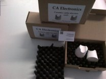 Package with ca electronics