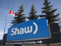 A Shaw Communications sign at